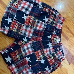 Men's linen American flag shorts